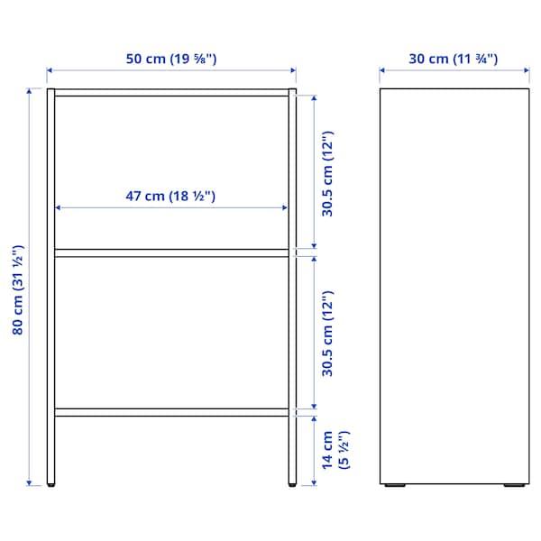 BAGGEBO Bookcase, white, 50x30x80 cm