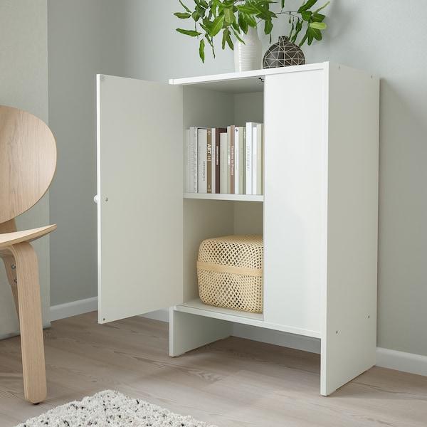BAGGEBO خزانة مع باب, أبيض, 50x30x80 سم
