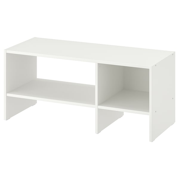 BAGGEBO طاولة تلفزيون, أبيض, 90x35x40 سم