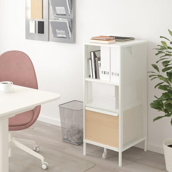 BEKANT Storage unit on legs, mesh white, 41x101 cm