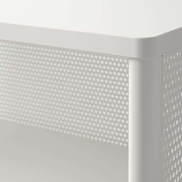 BEKANT Storage unit on legs, mesh white, 61x101 cm