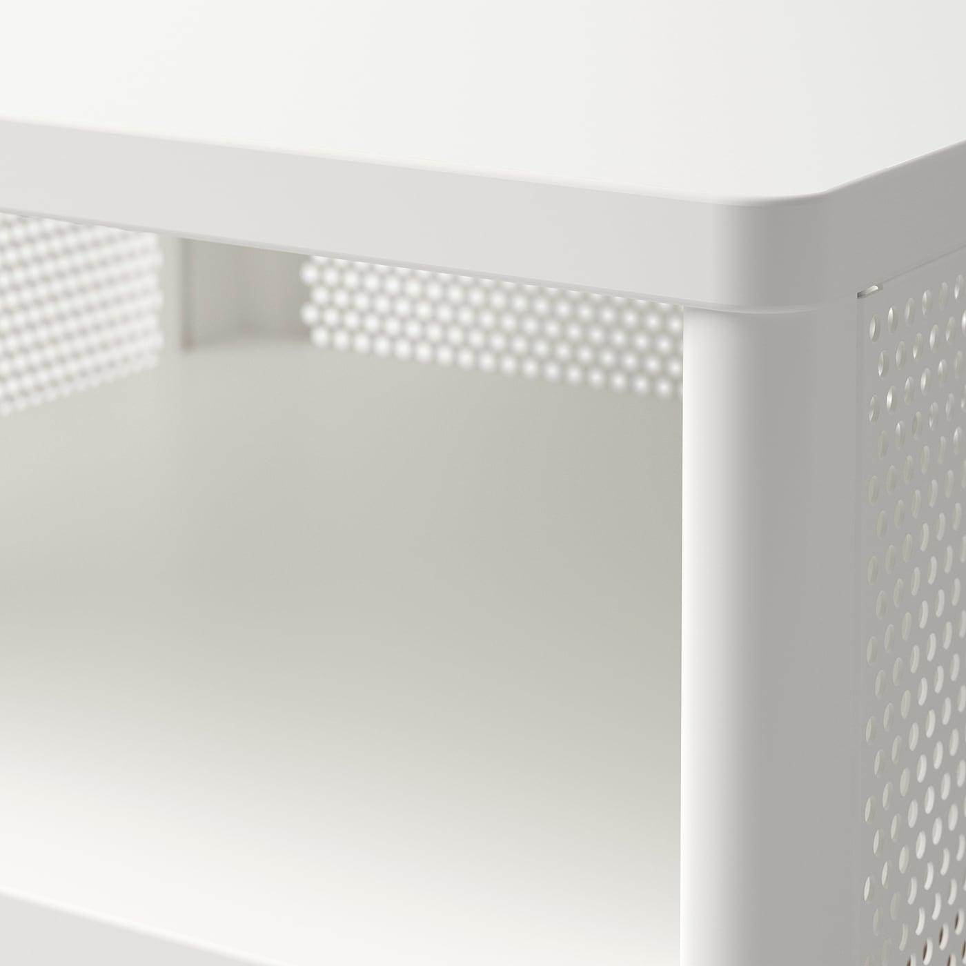 BEKANT وحدة تخزين بأرجل, فتحة شبكة أبيض, 41x61 سم
