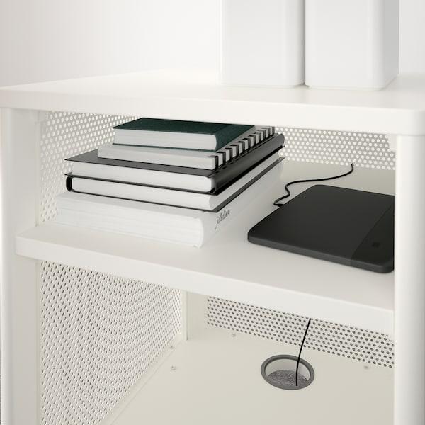 BEKANT وحدة تخزين بقفل ذكي, فتحة شبكة أبيض, 41x61 سم