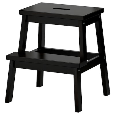 BEKVÄM Step stool, black, 50 cm
