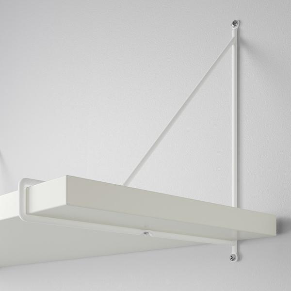 BERGSHULT / PERSHULT تشكيلة رف حائطي, أبيض/أبيض, 120x30 سم