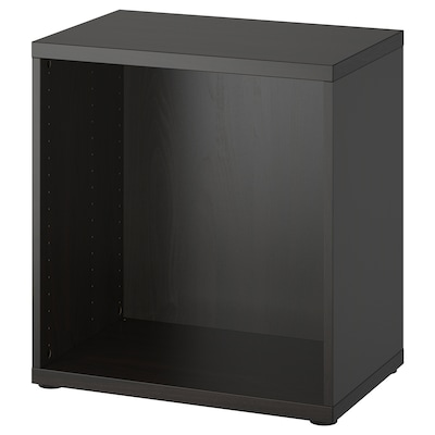 BESTÅ اطار, أسود-بني, 60x40x64 سم