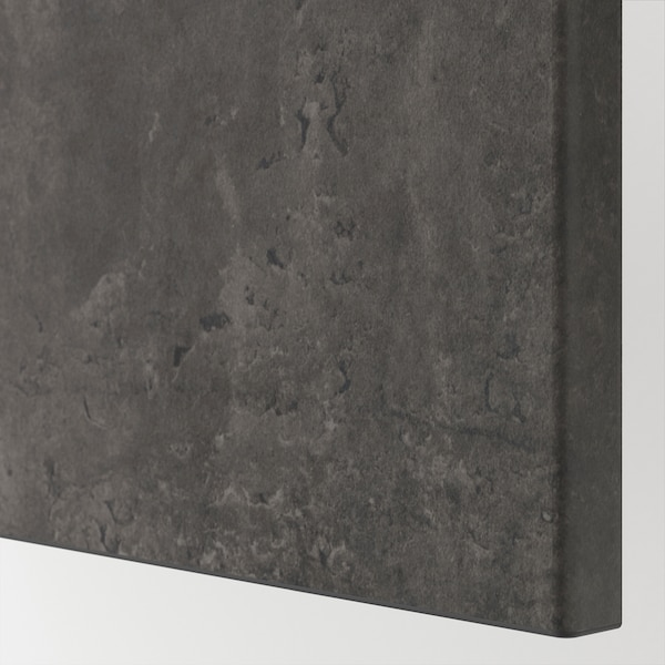 BESTÅ تشكيلة تخزين مع أبواب, أسود-بني Kallviken/رمادي غامق تأثيرات ماديّة., 120x42x65 سم