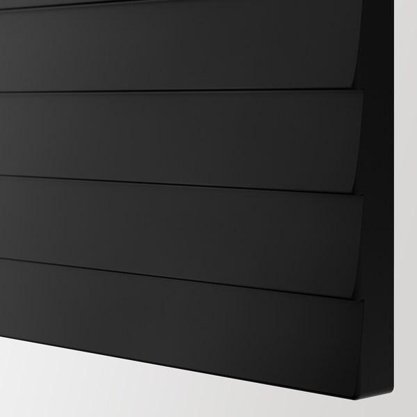 BESTÅ تشكيلة تخزين مع أبواب, أسود-بني/Stockviken فحمي, 120x42x65 سم