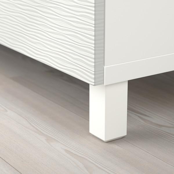 BESTÅ تشكيلة تخزين مع أبواب, أبيض/Laxviken أبيض, 120x40x74 سم