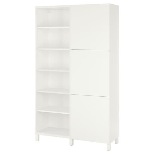 BESTÅ storage combination with doors white/Lappviken/Stubbarp white 120 cm 42 cm 202 cm