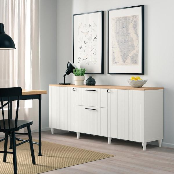 BESTÅ تشكيلة تخزين مع أدراج, أبيض/Sutterviken/Kabbarp أبيض, 180x42x76 سم