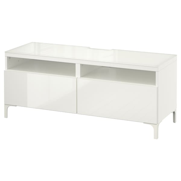 Tv Bench With Drawers Bestå White Selsviken High Glosswhite
