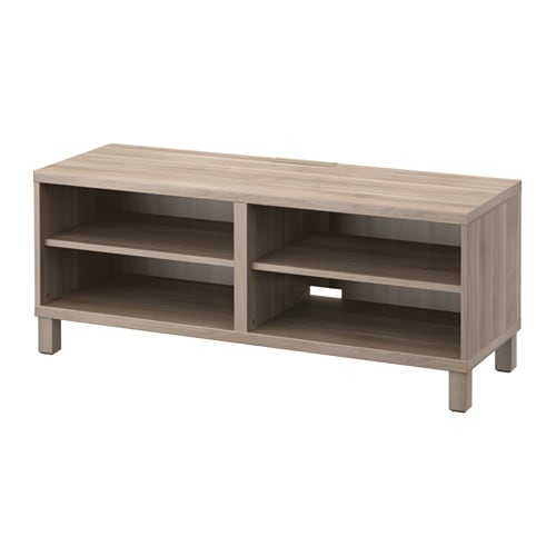 Best tv bench grey stained walnut effect ikea - Walnut effect living room furniture ...