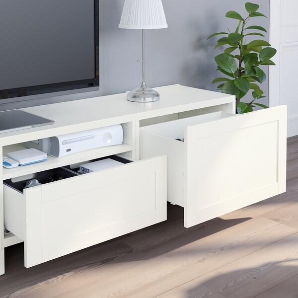 BESTÅ TV storage combination, white/Hanviken/Stubbarp white, 240x42x230 cm