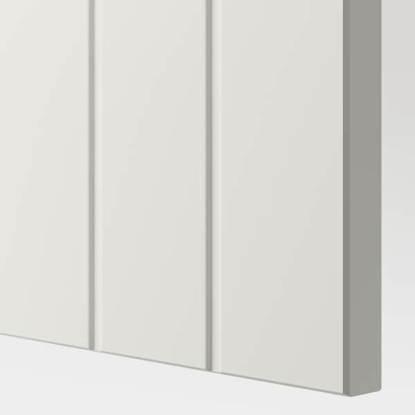 BESTÅ تشكيلة خزانة حائطية, أبيض/Sutterviken, 120x42x64 سم