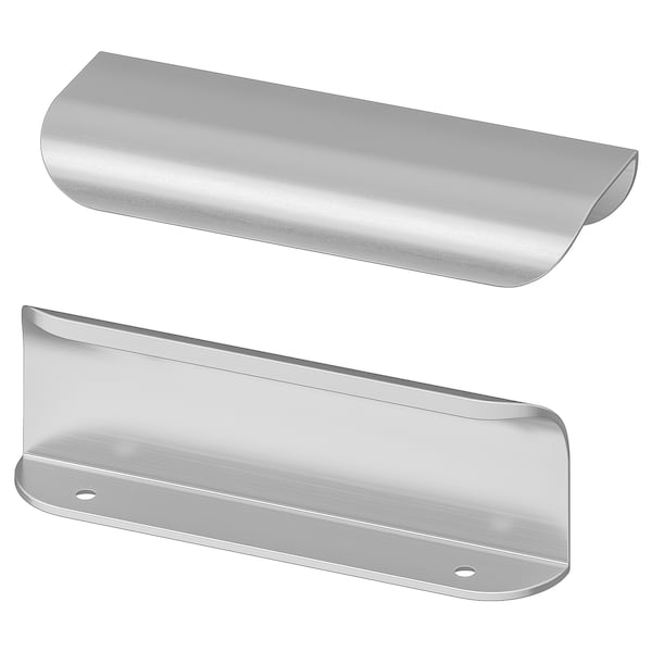 BILLSBRO Handle, stainless steel colour, 120 mm