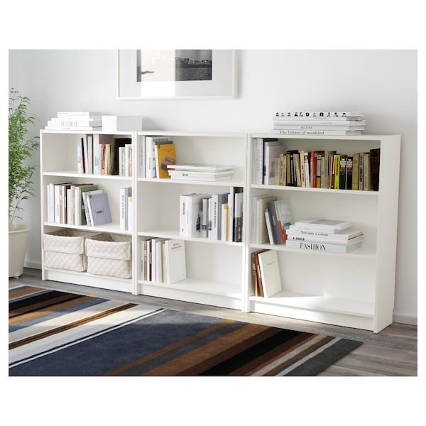 BILLY Bookcase, white, 240x28x106 cm