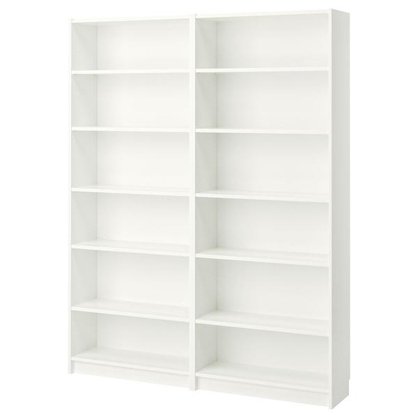 BILLY Bookcase, white, 160x28x202 cm