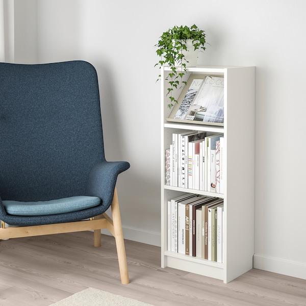 BILLY / BOTTNA Bookcase with display shelf, white/beige, 40x28x106 cm