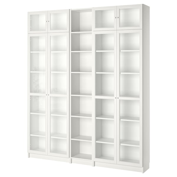 BILLY / OXBERG مكتبة, أبيض, 200x30x237 سم