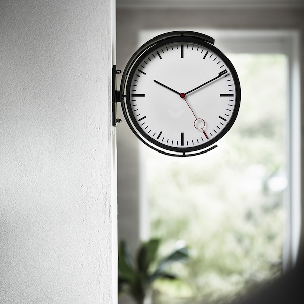 BISSING ساعة حائط, أسود, 28 سم