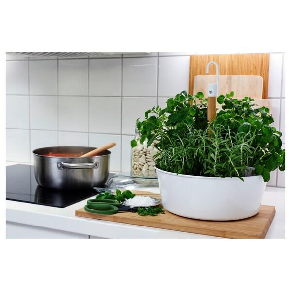BITTERGURKA وعاء نباتات يُعلّق, أبيض