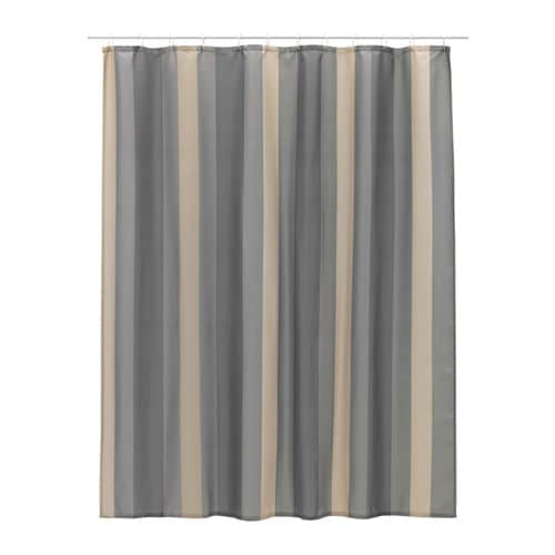 BJÖRNÅN Shower curtain, striped multicolour