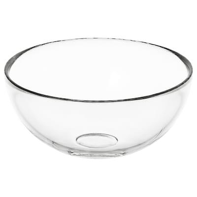 BLANDA Serving bowl, clear glass, 12 cm