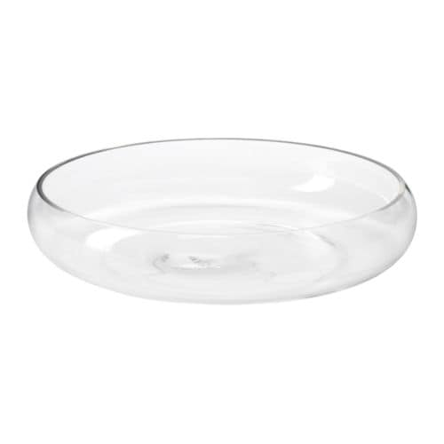 BLOMSTER Bowl IKEA The glass bowl is mouth blown by a skilled craftsperson.  Soft feet; make the bowl stand steady and spare the underlying surface.