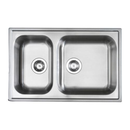 Ikea Apothekerschrank Bohrschablone ~ BOHOLMEN Double bowl inset sink IKEA 25 year guarantee Read about the
