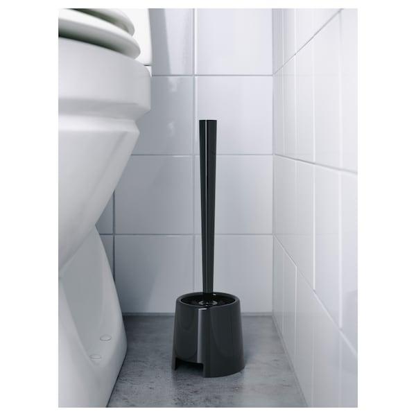BOLMEN Toilet brush/holder, black