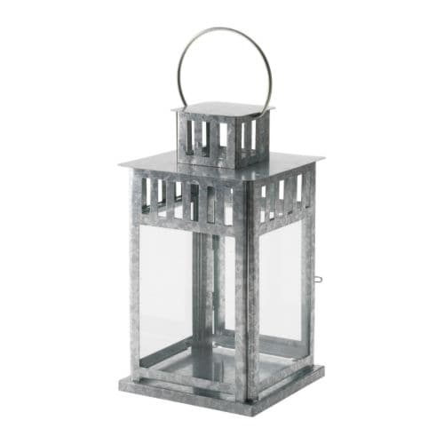 BORRBY Lantern for block candle IKEA Suitable for both indoor and outdoor use.