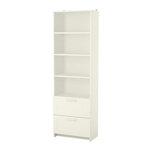 BRIMNES Bookcase, white