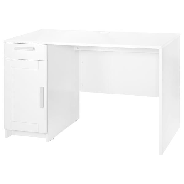 BRIMNES Desk, white, 120x65 cm