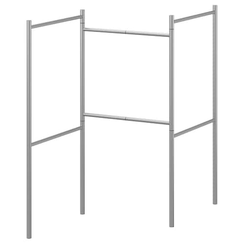BROGRUND extendable towel stand stainless steel 124 cm 124 cm 155 cm 84 cm
