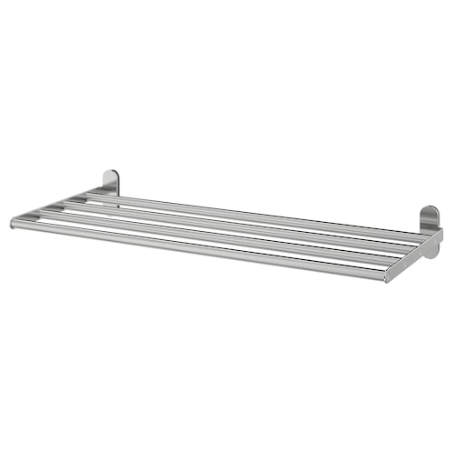 BROGRUND wall shelf with towel rail stainless steel 67 cm 27 cm