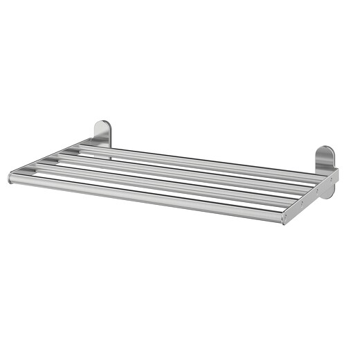 BROGRUND wall shelf with towel rail stainless steel 47 cm 27 cm