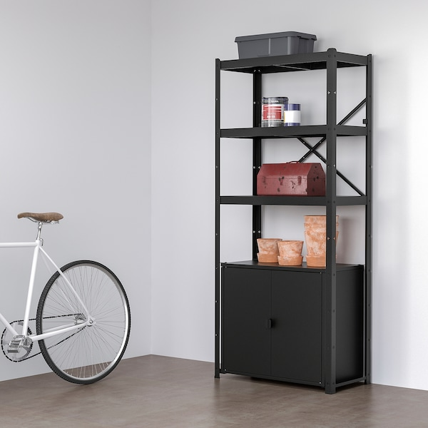 Bror Shelving Unit With Cabinet