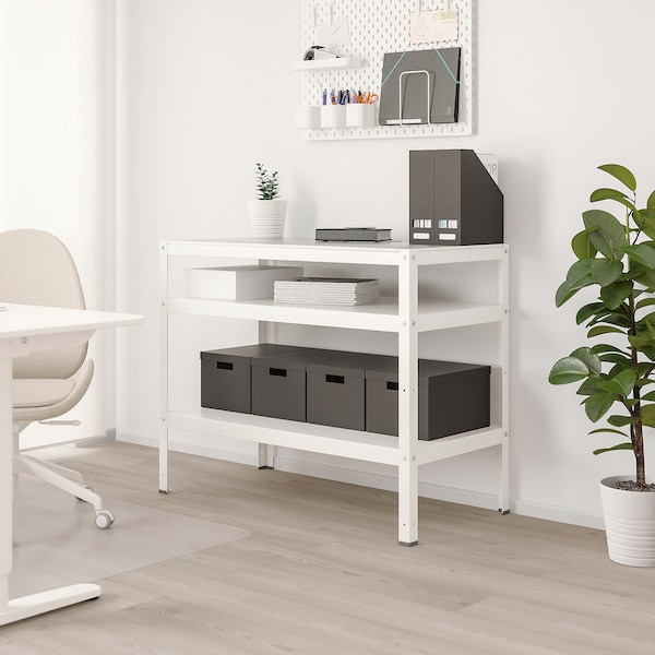 BROR طاولة, أبيض, 110x55 سم