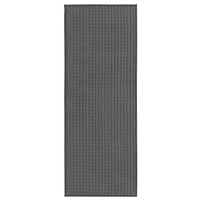 BRYNDUM Kitchen mat, grey, 45x120 cm