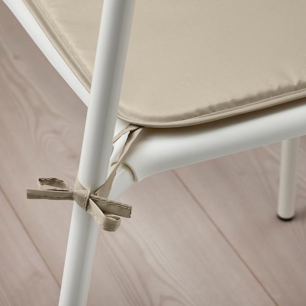 BRÄMÖN وسادة كرسي, رمادي-بيج داخلي/خارجي, 34x34x1.0 سم