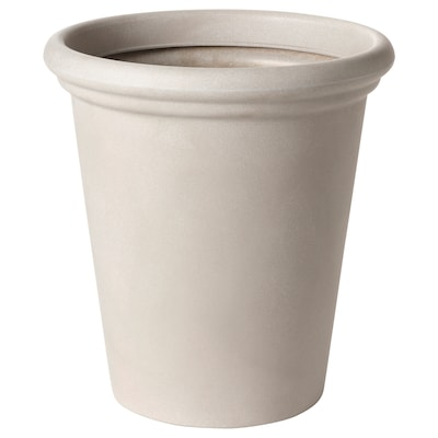 CHILIPEPPAR Plant pot, in/outdoor beige, 32 cm