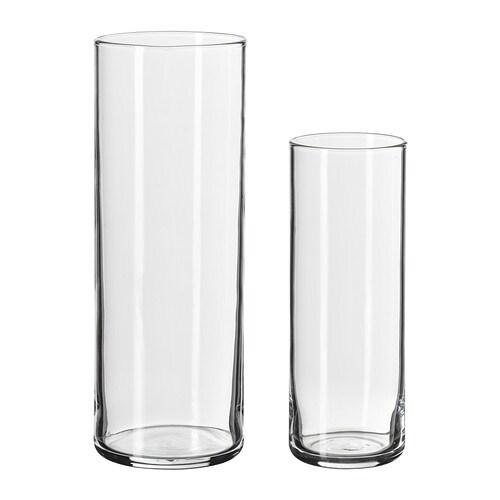 cylinder vase set of 2 ikea. Black Bedroom Furniture Sets. Home Design Ideas