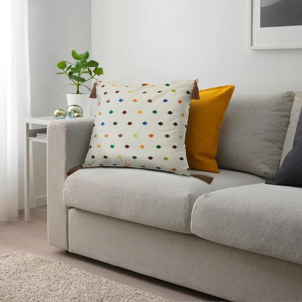 DAGVOR غطاء وسادة, تطريز/عدة ألوان, 50x50 سم