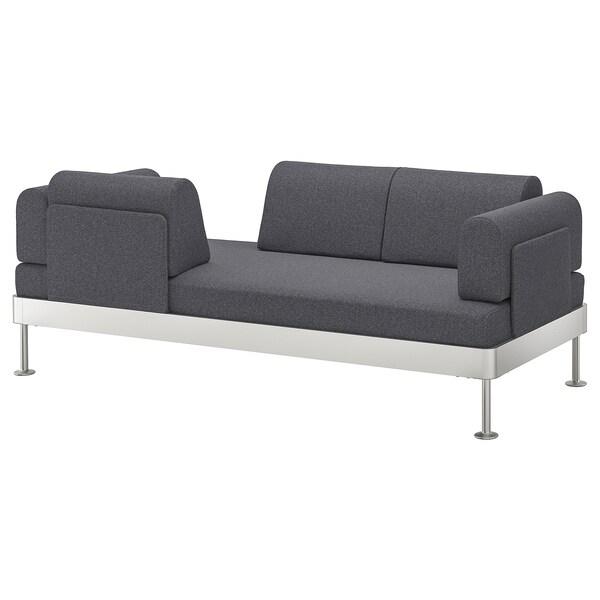 DELAKTIG 3-seat sofa Gunnared medium grey 79 cm 204 cm 84 cm 45 cm 20 cm 200 cm 80 cm 45 cm