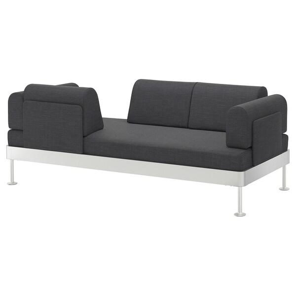 DELAKTIG 3-seat sofa Hillared anthracite 79 cm 204 cm 84 cm 45 cm 20 cm 200 cm 80 cm 45 cm