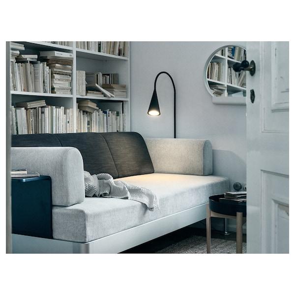 DELAKTIG LED floor lamp, black