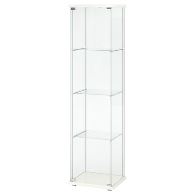 DETOLF Glass-door cabinet, white, 43x163 cm