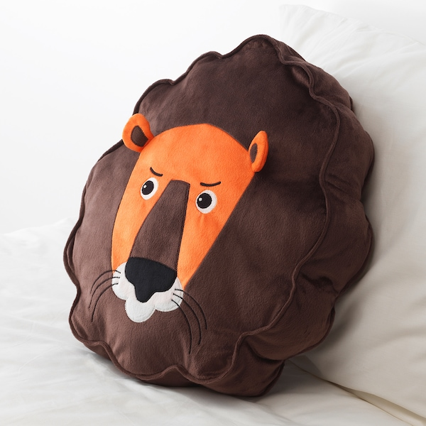 DJUNGELSKOG Cushion, lion/brown