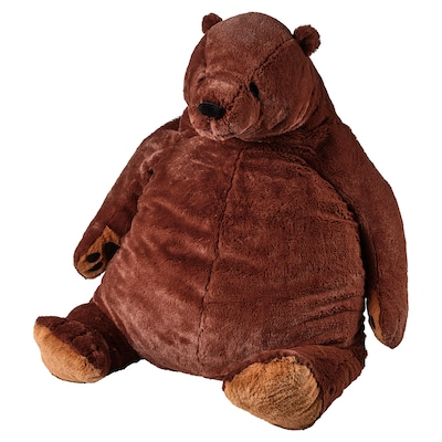 DJUNGELSKOG Soft toy, brown bear
